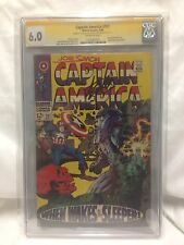 Captain America #101 CGC SIGNED BY STAN LEE & JOE SIMON RARE (May 1968 Marvel)