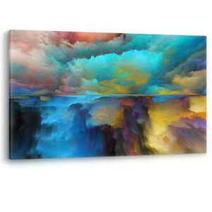 Advance of Abstract Landscape Large Luxury Canvas Wall Art Picture Print A0 A2
