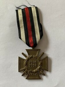 WW1 German 1914-1918 Hindenburg Honor Cross with Swords Third Reich 1934-44 #2