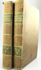 AMERICAN NATURAL HISTORY 1836 Leather Bound Set ANTIQUE BOOKS Full Calf PLATES