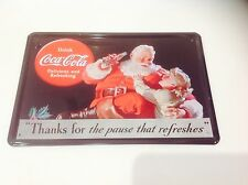 COCA COLA* FATHER CHRISTMAS*Decor-SANTA-home-Sign Tin Plaque PICTURE pub POSTER.