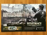 Resistance: Retribution PSP 2008 Vintage Poster Ad Art Official Promo PS3 Rare