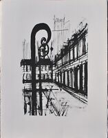 Bernard Buffet: Paris Platz Der Vogesen - Gravur Unterzeichnet, 1961,