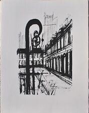 Bernard BUFFET :  Paris Place des Vosges - GRAVURE signée, 1961, 197ex