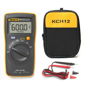 Bag + Fluke 101 F101 Basic Pocket Digital Multimeter Meter AC DC Volt Tester