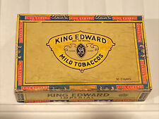 New listing Vintage 8 Cents King Edward The Seventh Imperial Mild Tobaccos Cigar Box
