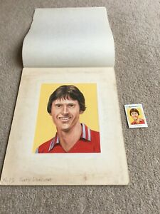 1981 Original Artwork Terry Donovan Aston Villa FC as used by Cornish Match Co