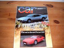 CAR MAGAZINE OCT-1989 - Jaguar XJ6 4.0, BMW 535i E34, Ferrari 348, Merc 420 SE