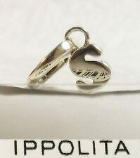 $195 IPPOLITA Letter S Sterling Silver Lollipop Charm Pendant Spring Bail Women