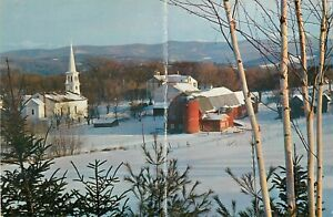 "Connecticut Coke Fuel Giant Vintage Postcard 9""x6"" Advertising Farm Church Scene"
