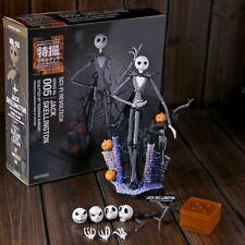 "The Nightmare Before Christmas Jack Skellington Figure 7"" Skull Heads Doll Gift"