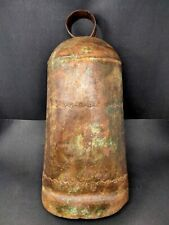 Antique Iron Elephant Bell Hand Forged Big Bell 22 Inches Old Engraved Bell