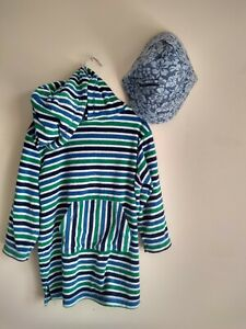 Kids Towelling Hooded Pullover Robe And Hat Size 4 Years