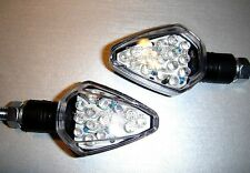 2X LED YAMAHA Thunder Cat,Virago,TDM 900,FJ1100 Black STAR Bike Turn signal