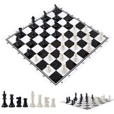 Plastic International Competition Chess Pieces with PVC Chess Board Set Game Toy