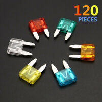 120 pcs ATC / MINI / Low Profile / Mini Blade Fuse Auto Car FUSES Assortment Kit