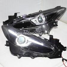 For MAZDA 3 Axela LED Head Lamps Bi Xenon projector Lens 2013 to 2015 year LF