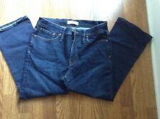 Madewell zip fly cropped Tehran cali Demi boot jeans sz 31 short EUC