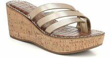 SAM EDELMAN Ronda Metallic Wedge sandals  9 M women