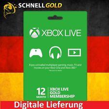 12 Monate Xbox 360 & One Live Gold Mitgliedschaft Karte - 12 Month Key Card