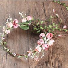 Women's Boho Flower Floral Hairband Headband Crown Party Bride Wedding Beach WK