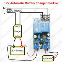 12V 30A Automatic Battery Charging Protection Board Auto Charger Relay Module