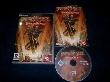 Dungeon Siege II 2 roto Pack Expansion PC del mundo-CD v.g.c. rápido post Completa