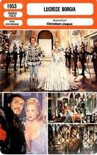 FICHE CINEMA : LUCRECE BORGIA - Carol,Armendáriz,Christian-Jaque 1953