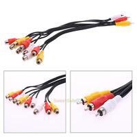 Jack 3 RCA Male to 9 RCA Female Audio Video AV Cable Splitter Adapter Hi-Fi 0.3M