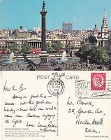 1965 TRAFALGAR SQUARE LONDON COLOUR POSTCARD