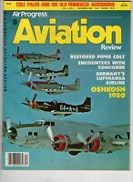 Air Progress  Aviation Review Magazine Piper Colt Lufthansa Airline Germany