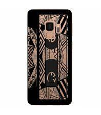 Coque Galaxy S9 PLUS cassette K7 tape geometrique noir transparente
