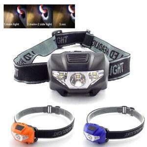 powerful led mini headlight flashlight camping head light torch lamp bright AAA