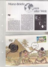 Numisbriefe aus aller Welt - Fiji und Infokarte