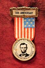 86th Illinois Reunion Medal - US Civil War -  50th Anniversary - Peoria 1912