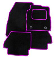 CITROEN DS3 2010 ONWARDS BLACK TAILORED CAR MATS WITH PINK TRIM