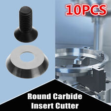 10PCS Φ16×3-30° Round Carbide Insert Cutter for Finisher Wood Turning Lathe Tool