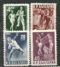 BULGARIE Scott# 706-709 Sport 1950