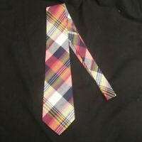 """LIBERTY OF LONDON MEN'S NECK TIE PLAID 100% COTTON MADE IN THE USA 3.5"""" WIDE"""