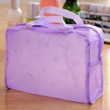 Nouveau Trousse De Toilette Transparent Sac De Maquillage Zip Sac A Main Etanche
