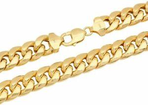 "10k Yellow Gold Miami Cuban Link Chain Necklace Bracelet 2mm-7.5mm Size 7""-30"""