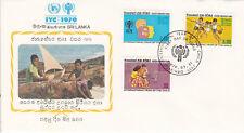 Sri Lanka FDC Ersttagsbrief 1979 Jahr des Kindes Mi.Nr.501-3