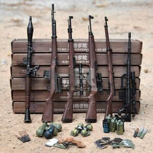 """1/6 Scale Sniper Rifle Gun Weapons Military Accessories For 12"""" Action Figure UK"""