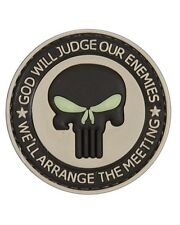 KOMBAT GOD WILL JUDGE OUR ENEMIES PATCH PVC WITH HOOK AND LOOP BACKING