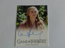 Game of Thrones Season 2 Autograph card (Lena Headey) excellent condition