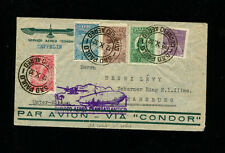 Zeppelin Sieger190A 1932 8th South America Flight Brazil Post  Sao Paulo-France
