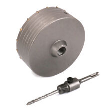 160mm Wall Hole Saw Carbide Drill Bit & 110mm SDS Plus Shaft for Bricks Cement
