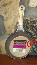 """Steel FRYING PAN 6"""" Made in USA JACOB BROMWELL FREE SHIPPING 6 inch skillet NEW"""