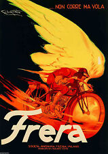 Frera, 1929 Vintage Italian Motorcycle Advertisement Giclee Canvas Print 30x42