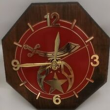"""Vintage Masonic Shriner Fez Wall Clock Quartz Movement, unique 7.5"""""""